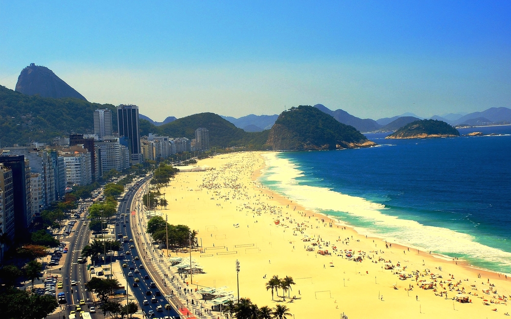 The legendary Copacabana beach