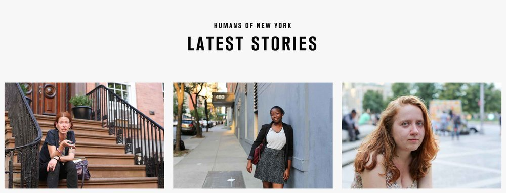Some stories of some New Yorkers