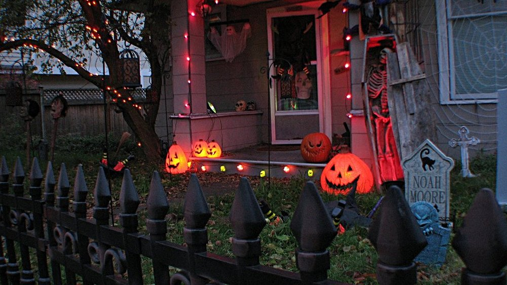 Halloween decorations in Brooklyn, New York