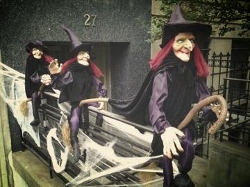 Halloween decorations in the Upper West Side, Manhattan, New York