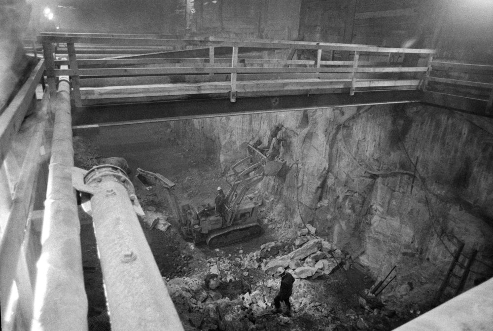 Construction on the Second Avenue subway in 1974. CREDIT: MEYER LIEBOWITZ/THE NEW YORK TIMES
