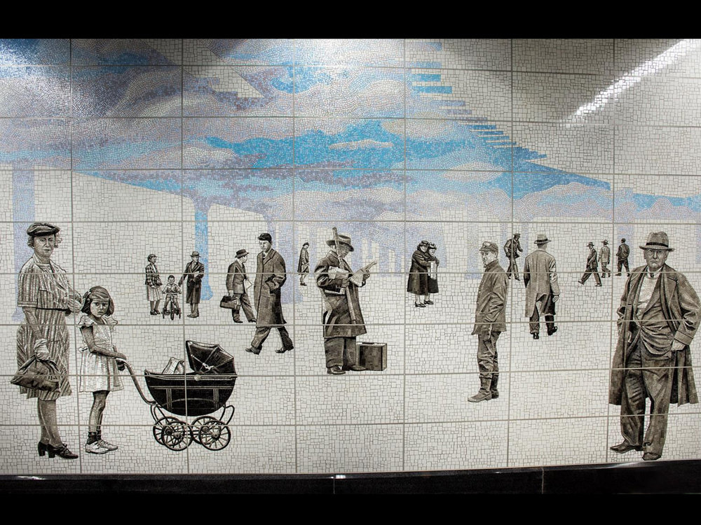 Shin's art installation on Second Avenue x 63rd Street station