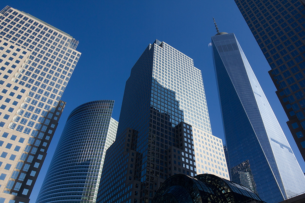 The Financial District in lower Manhattan