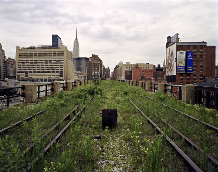 The High Line in May 2000 (Image credit: New York City Department of Parks & Recreation). Repurposing of the railway into an urban park began construction in 2006, with the first phase opening in 2009, and the second phase opening in 2011. The third and final phase officially opened to the public on September 21, 2014.    Explore The High Line...