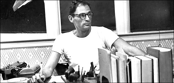 Arthur Asher Miller (October 17, 1915 – February 10, 2005) was an American playwright, essayist, and figure in twentieth-century American theater. Among his most popular plays are All My Sons (1947), Death of a Salesman (1949), The Crucible (1953) and A View from the Bridge (1955, revised 1956). He also wrote several screenplays and was most noted for his work on The Misfits (1961). The drama Death of a Salesman has been numbered on the short list of finest American plays in the 20th century alongside Long Day's Journey into Night and A Streetcar Named Desire.