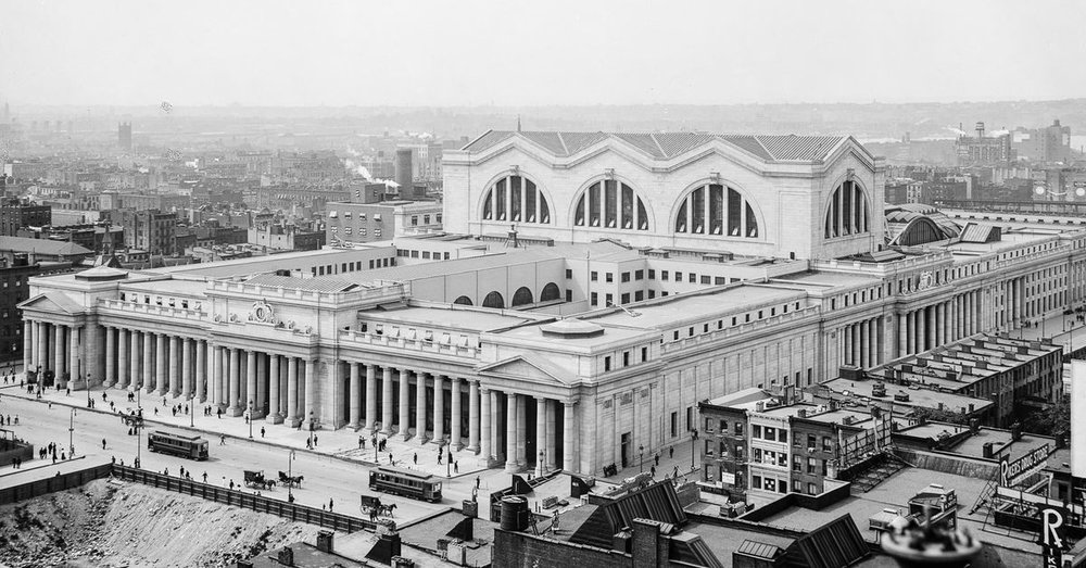 How Pennsylvania Station looked like in the 1910s until the 1960s