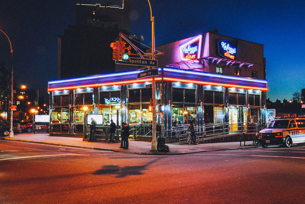 Longtime, 1973 Williamsburg neighborhood favorite serving diner fare 24 hours a day. at 518 Metropolitan Ave, Brooklyn, NY 11211  |  Open 24 hours  |  Phone (718) 782-4502