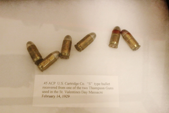 See shell casings from Bonnie and Clyde's final shootout and John Dillinger's death mask in the Museum of the American Gangster's unusual collection.