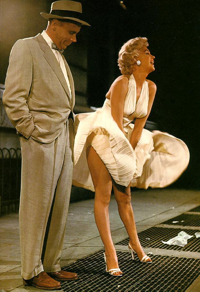Tom Ewell & Marilyn Monroe (Photo via  Strange Old Pictures )