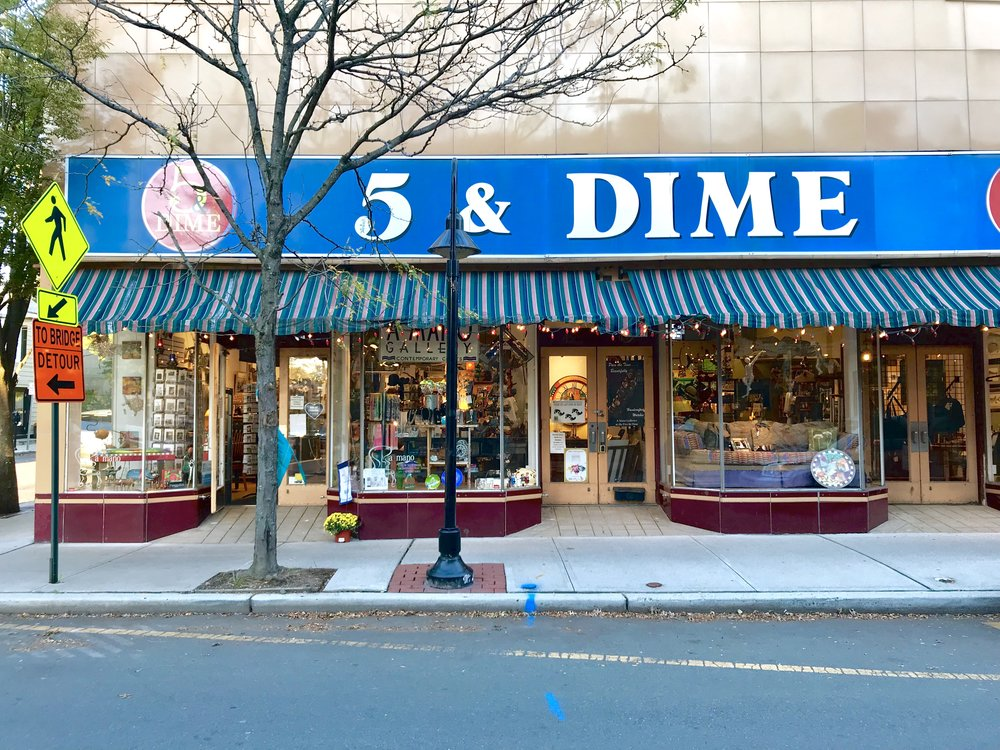 A historic 5 and Dime store in Lambertville, New Jersey