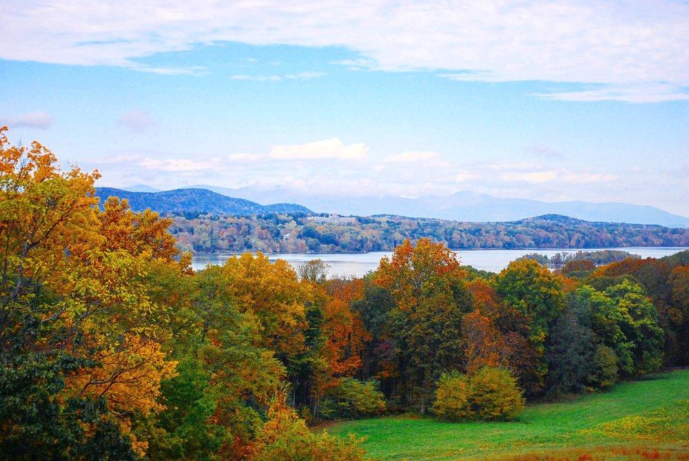 Hudson River from Vanderbilt Mansion, Hyde Park, NY (Hudson Valley) - October, 25th 2017.