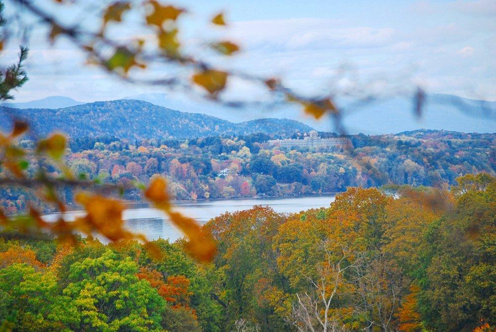 The Hudson Valley, View from Vanderbilt Mansion, Hyde Park, NY - October 25th, 2016.