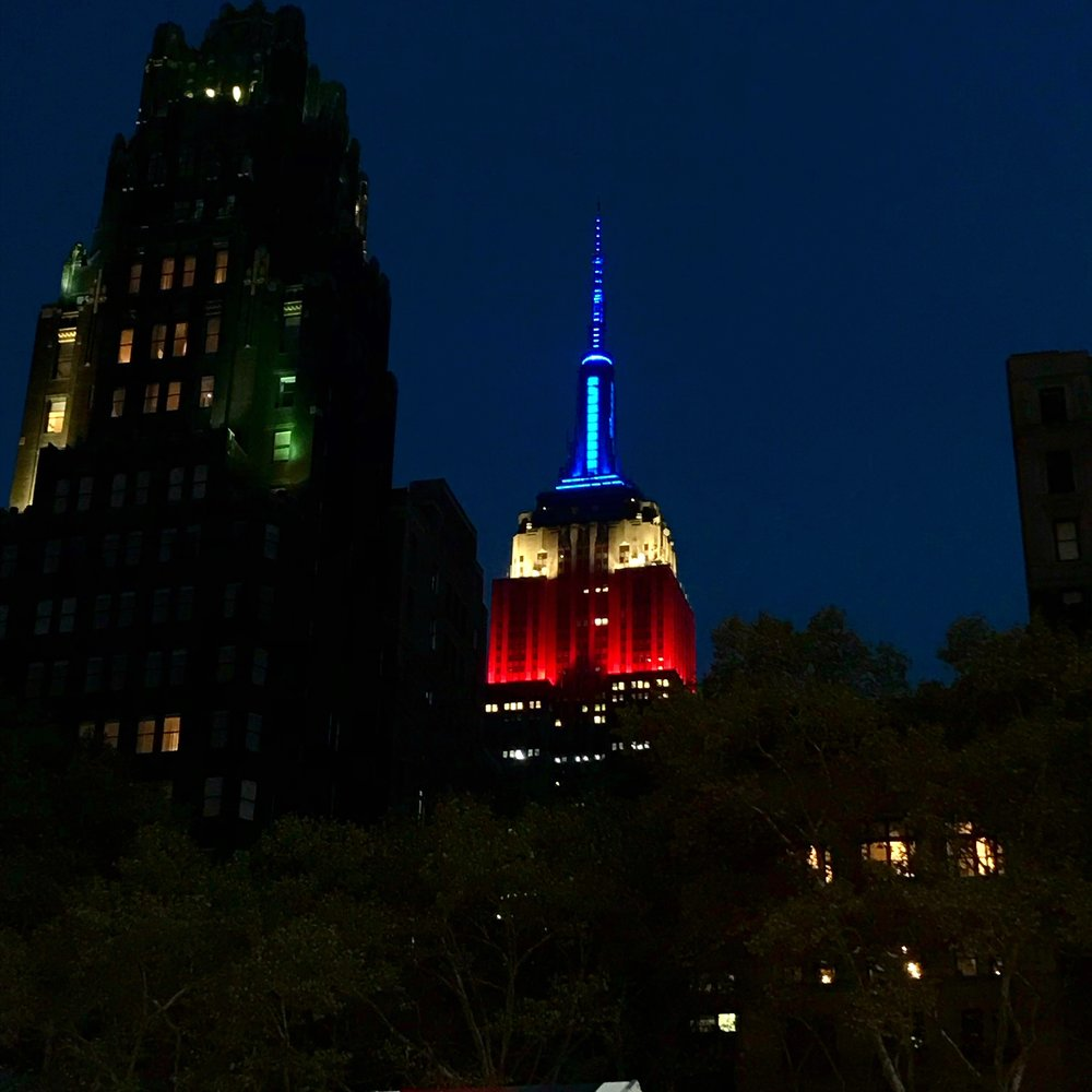 New York City at Night - The Empire State Building Lit up
