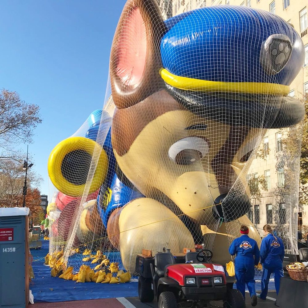 Getting Ready for The Thanksgiving Parade 2017