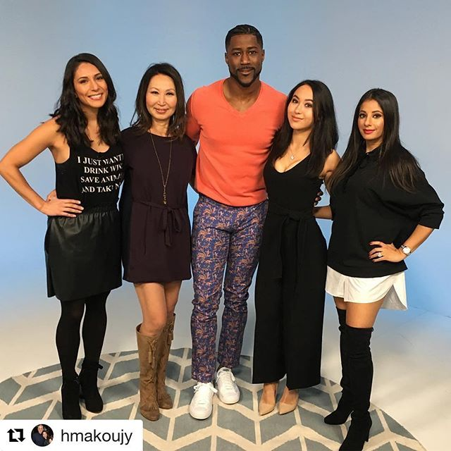 "#Repost @hmakoujy with @repostapp ・・・ Sabrina and I had great fun taping ""Sports Style Swipe"" for Sports Illustrated. We critiqued outfits worn by NBA players. The show also featured clothes from our Schuyler 4 showroom modeled by none other than Nate Burleson. Thank you Anisha, Tiff and Nate for having us on the show! #sportsstyleswipe #sportsillustrated #NBAfashion #style #menswear #mensstyle #athlete @nateburleson @anishabmukherjee @tmoluvssports @schuyler4_showroom @sabrinasablosky #schuyler4 #albertopants #codice"