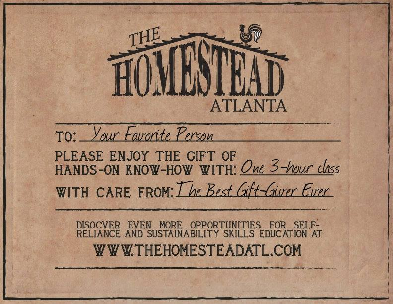 The Homestead Atlanta : Free Workshop