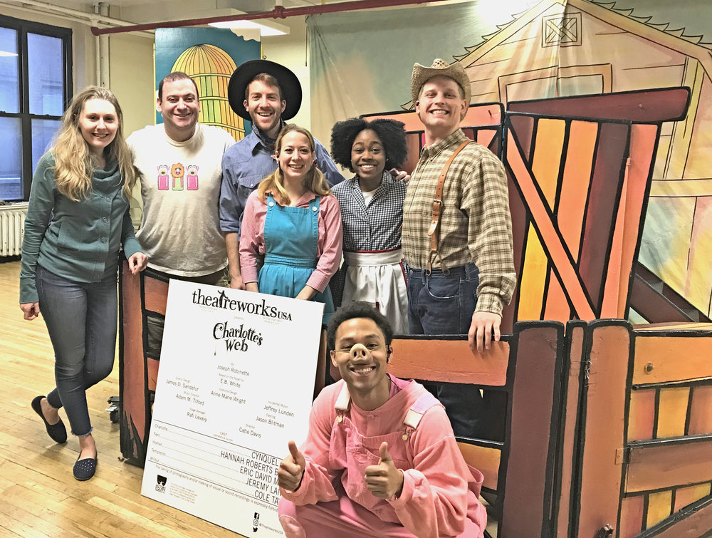 From left to right: Catie Davis, Rafi Levavy, Jeremy Landes, Hannah Roberts Brown, Cynquel Davis, Cole Taylor, and Eric D. Miller