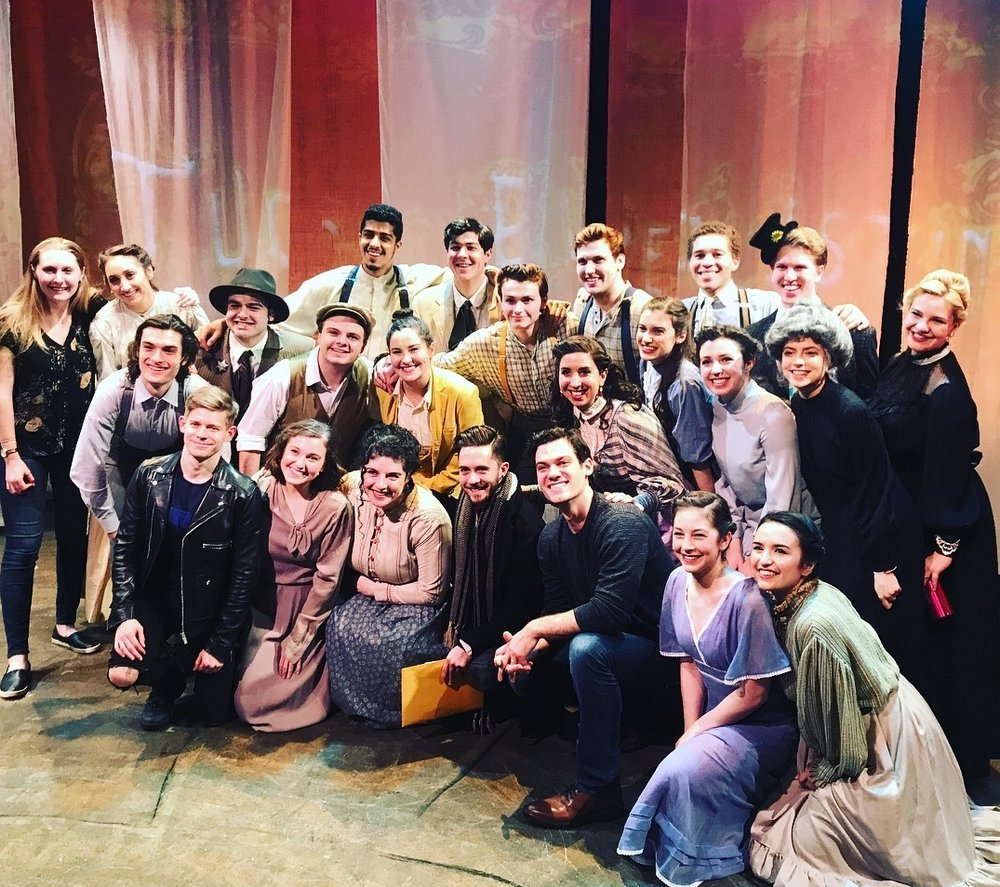 3/4/18 - The cast of TUCK EVERLASTING at NYU is visited by members of the original Broadway cast!