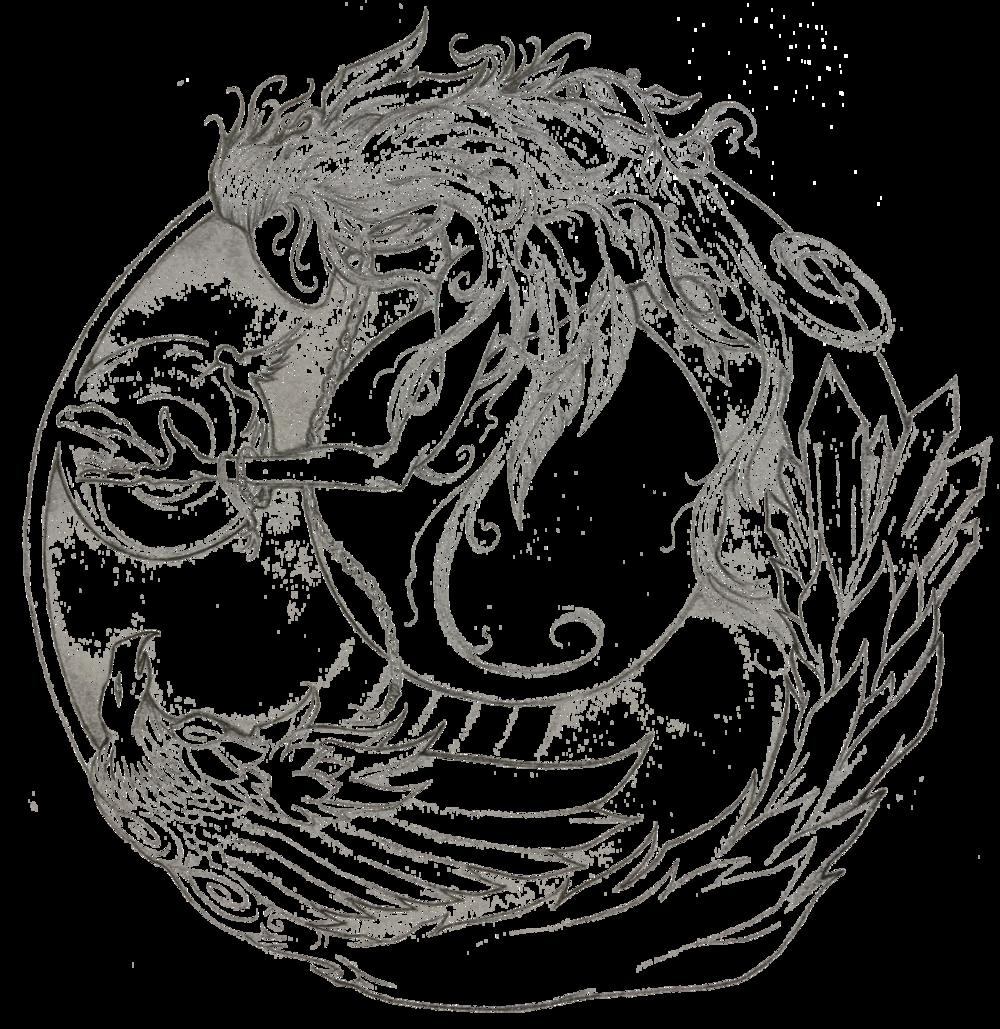 woman frog condor circle.png