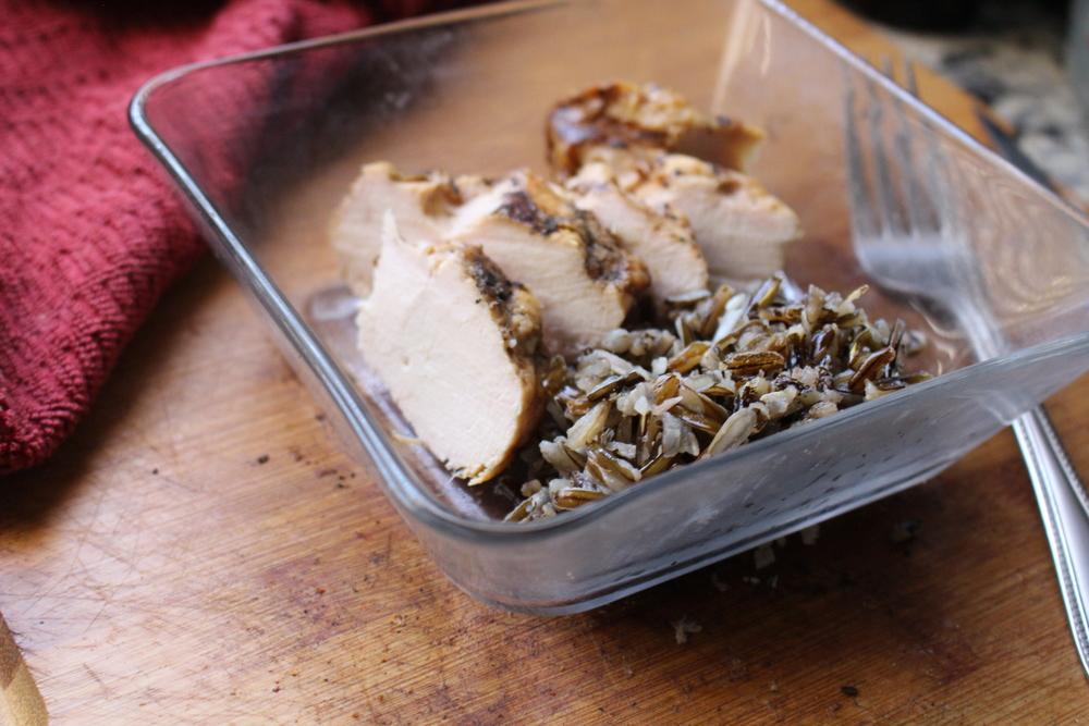 Dinner: Grilled Free Range Chicken with Wild Rice