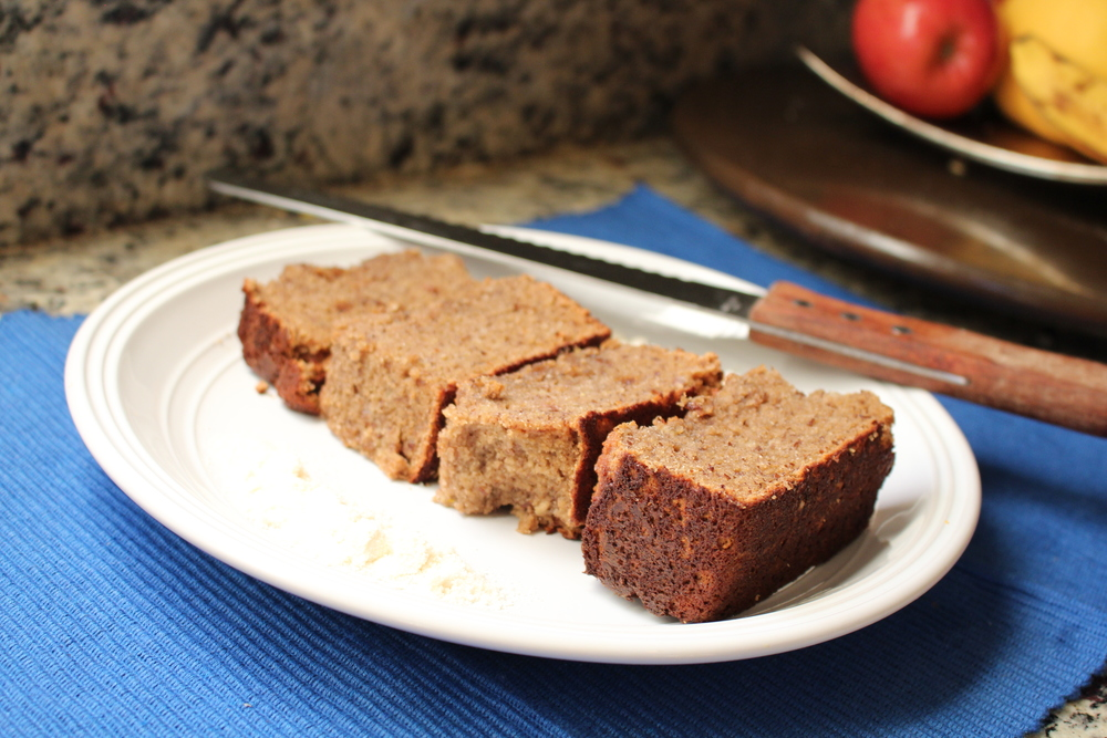 Breakfast! Made this AMAZING Protein Banana Bread! I'll have to remember this one! It was so good!