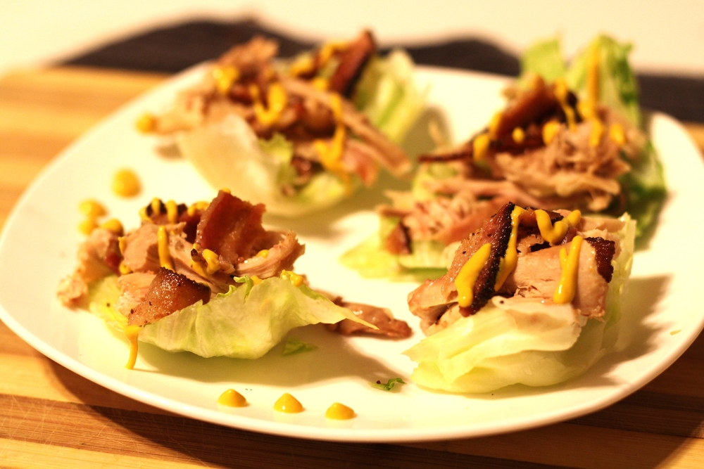 Dinner: Lettuce wrap BLT (without the T and chicken added instead!)
