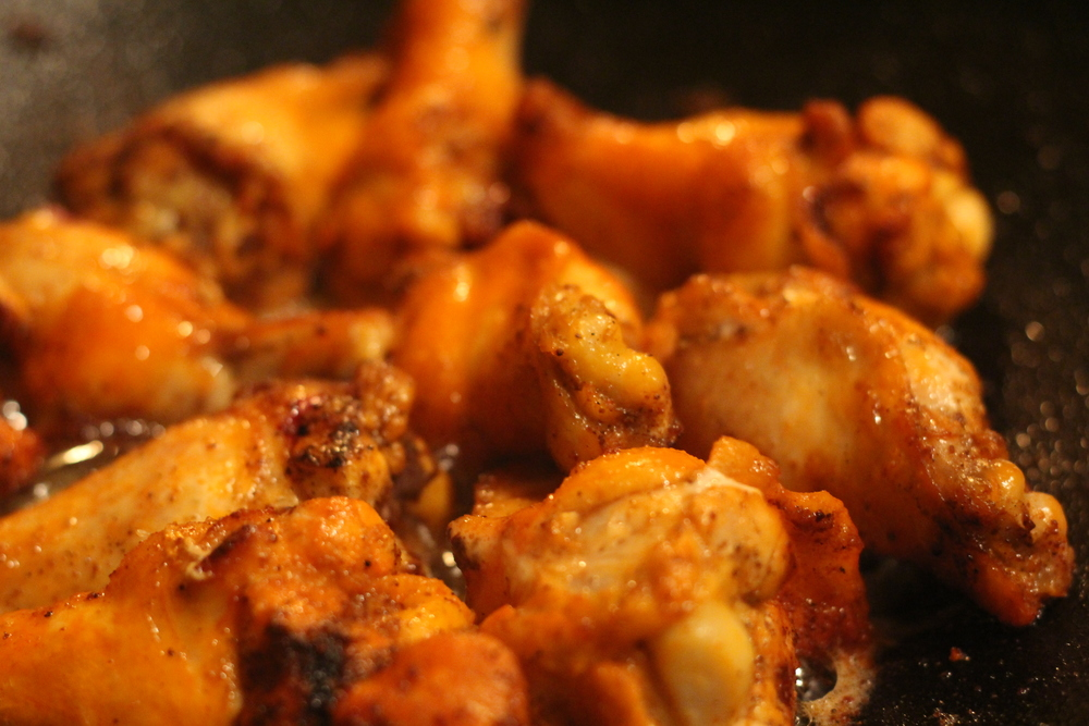 Lunch: CHICKEN WINGS! SOOOO GOOD!!! Just Salt, Pepper, and Garlic Powder