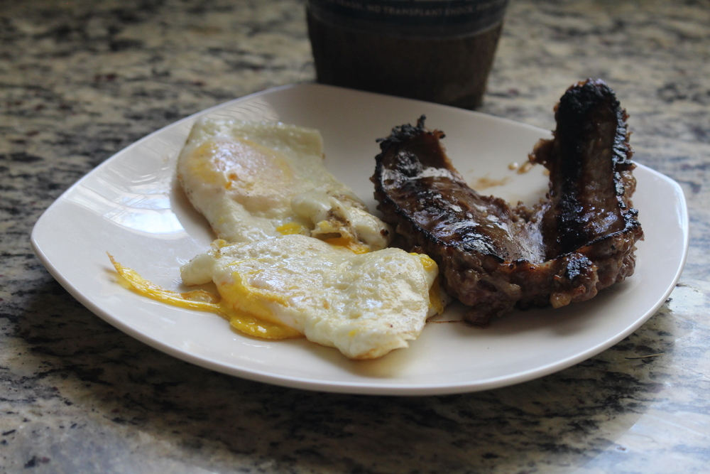 Breakfast: Large Sausage and Eggs!