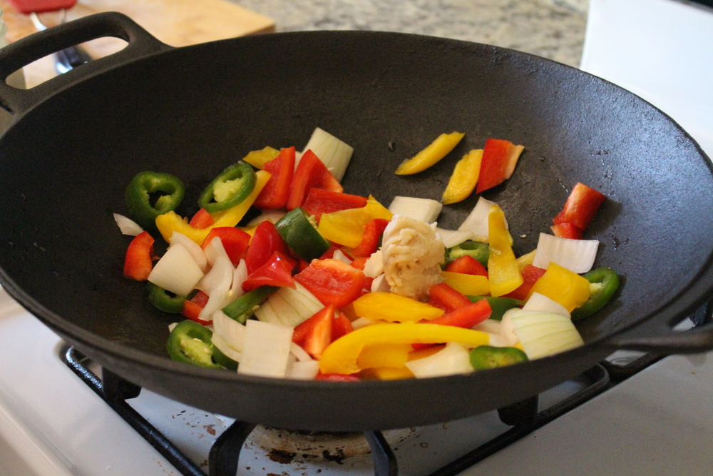 Dinner: We did a Stir fry idea with peppers, onions, and jalepenos served over grilled chicken!