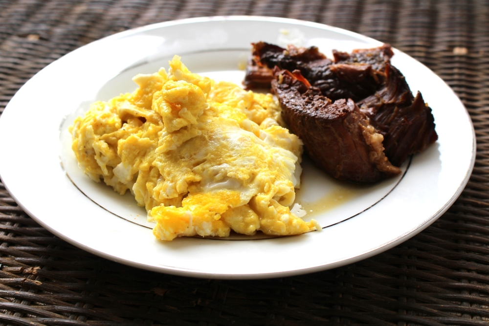 Breakfast ideas! Eggs and Roast