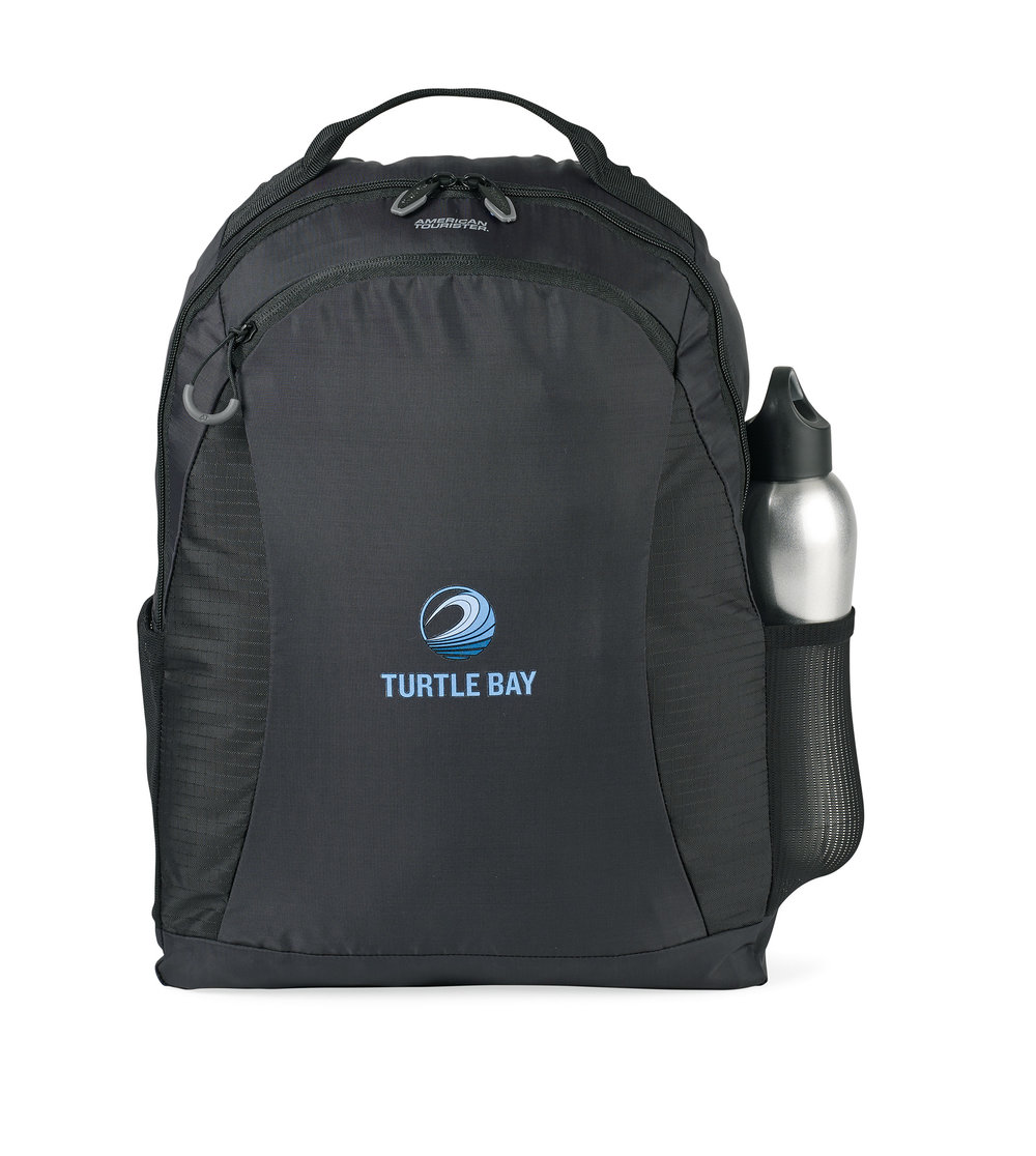When the backpack is packed into its pouch, the pouch has soft tricot lining that is designed to work as a travel pillow.