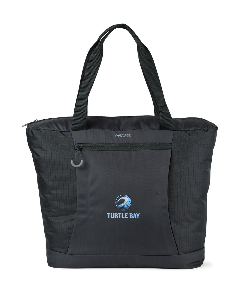 When the tote is packed into its pouch, the pouch has soft tricot lining that is designed to work as a travel pillow.