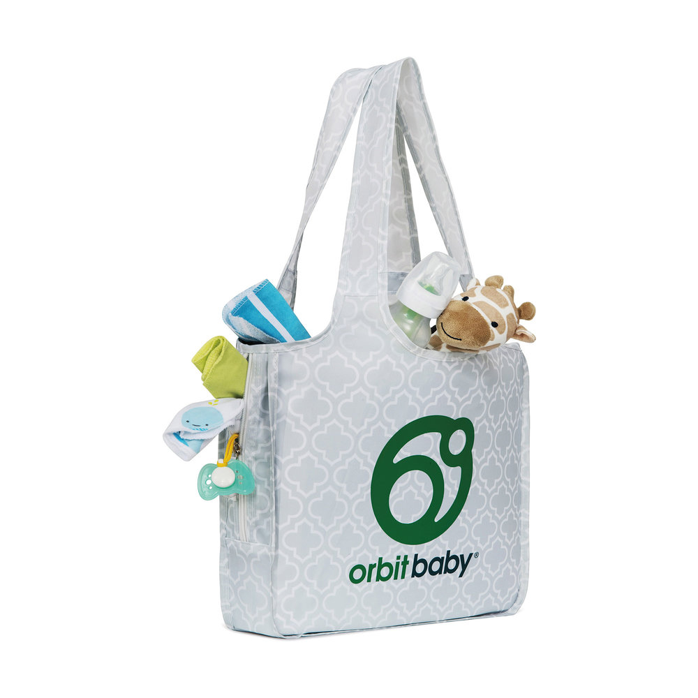 Small size packable tote. The side zipper pouch flips inside out to pack the tote into.