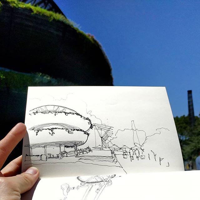 Beautiful @barangaroohouse at #barangaroowharf . We really liked this building! . #sydneyarchitecture #sydney #sketch