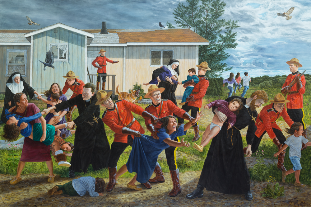 The editors of the Journal of Canadian Studies are pleased to have permission to use the evocative art of Kent Monkman 'The Scream' on this JCS special issue cover. [kent-monkman-The-Scream 2016]