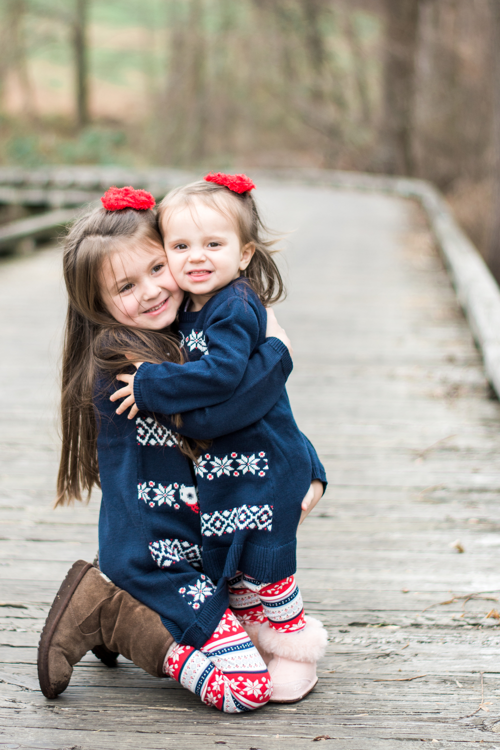 These sisters loved the camera during their annual Christmas session | Lifestyle | Children | Chester County, PA | Krista Brackin Photography