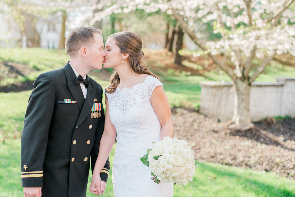 Spring Bride and Groom Portraits at The Mendenhall Inn | Bride | Groom | Krista Brackin Photography