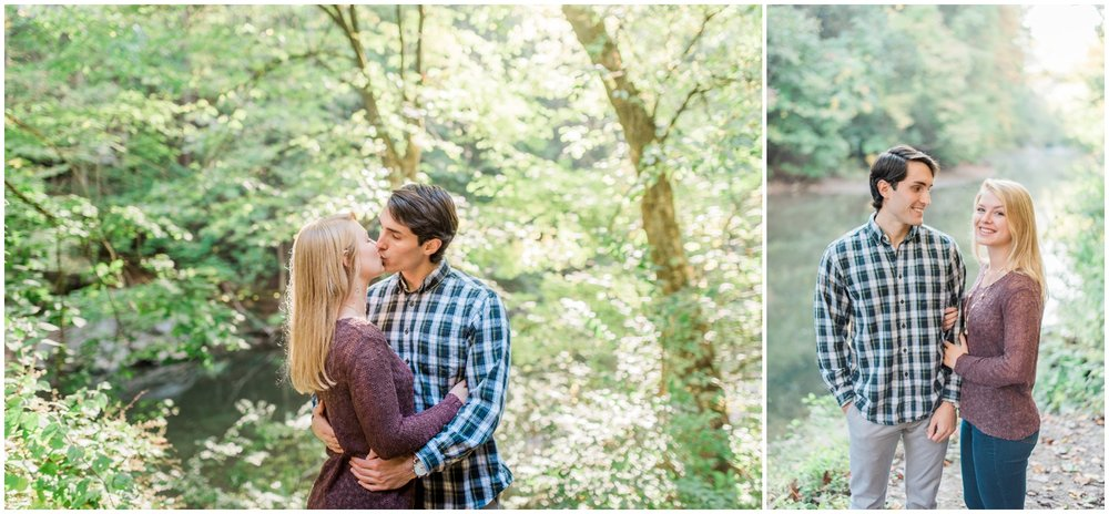 Engagement session soft morning light