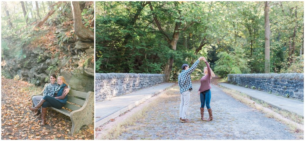 Erin and Greg - Beautiful Fall Wissahickon Park Engagement Session_0036.jpg