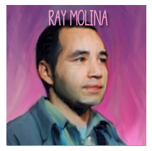 Ray Molina  has been a California comedy gem for over ten years, and has earned many awards from the Sacramento mineral society for his resinous and vitreous luster that accounts for the majority of his surface area but below the surface is a complex crystalline construction which is where his brilliance originates. In many cultures he is considered a symbol for love.