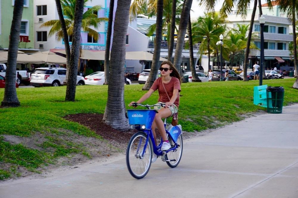 biking down  Ocean drive