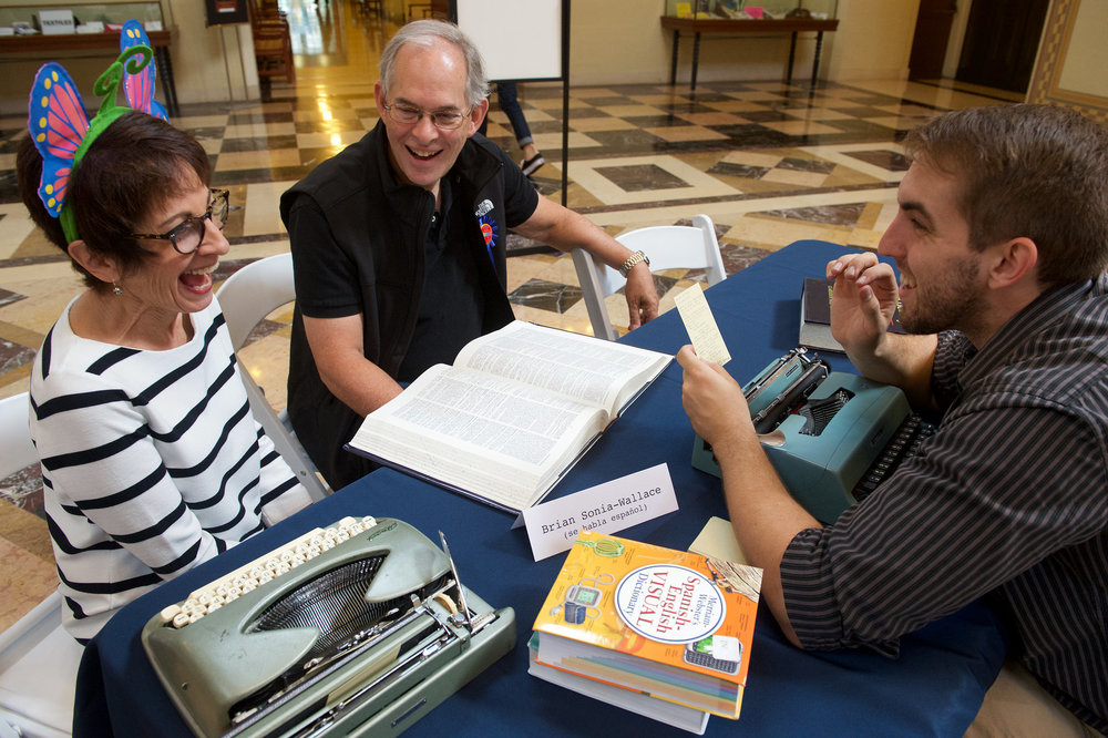 MPB writes poetry and encourages the public to write @ the Library Foundation's Day of the Dictionary Event