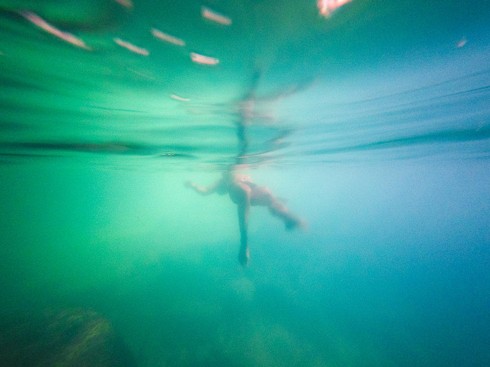 A day I spoke fluent English...cave swimming in Cambodia.