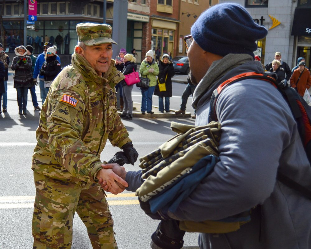Giving Back - This Veteran's Day, I had the honor of shaking hands and personally thanking more than 75 veterans. It was AMAZING!