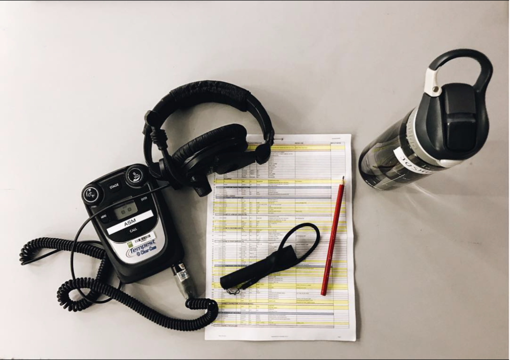 - Assistant Stage Managers essentials: I took this photo on our first technical session all the way back in October last year! What do you think is most important item for my job?🥤📃��🎧🔦 #WizardofOzAU (📸@joshuabroadbent)