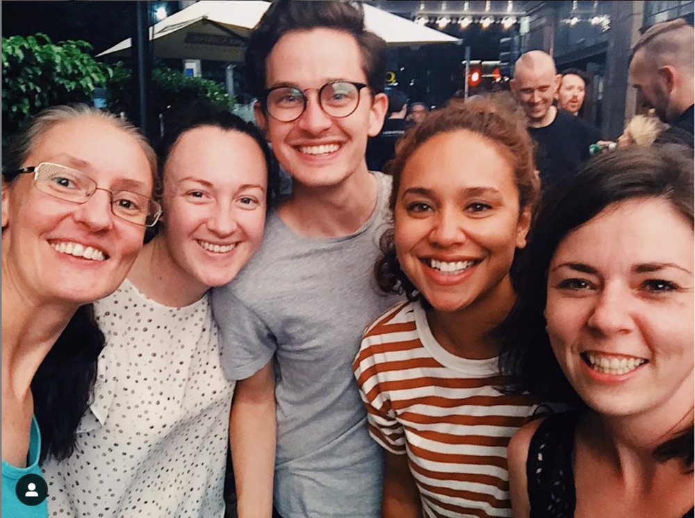 - Introducing the Stage Management department (left to right)Kirsten - Stage ManagerMargaret - Assistant Stage ManagerMe - Assistant Stage ManagerCari - Swing Assistant Stage ManagerBonnie - Deputy Stage ManagerI am super excited to take over the Instagram this week on behalf of the team. As always if there is anything you'd love to know or see please leave it in the comments or DM this account. #EvitainAus#stagemanagement