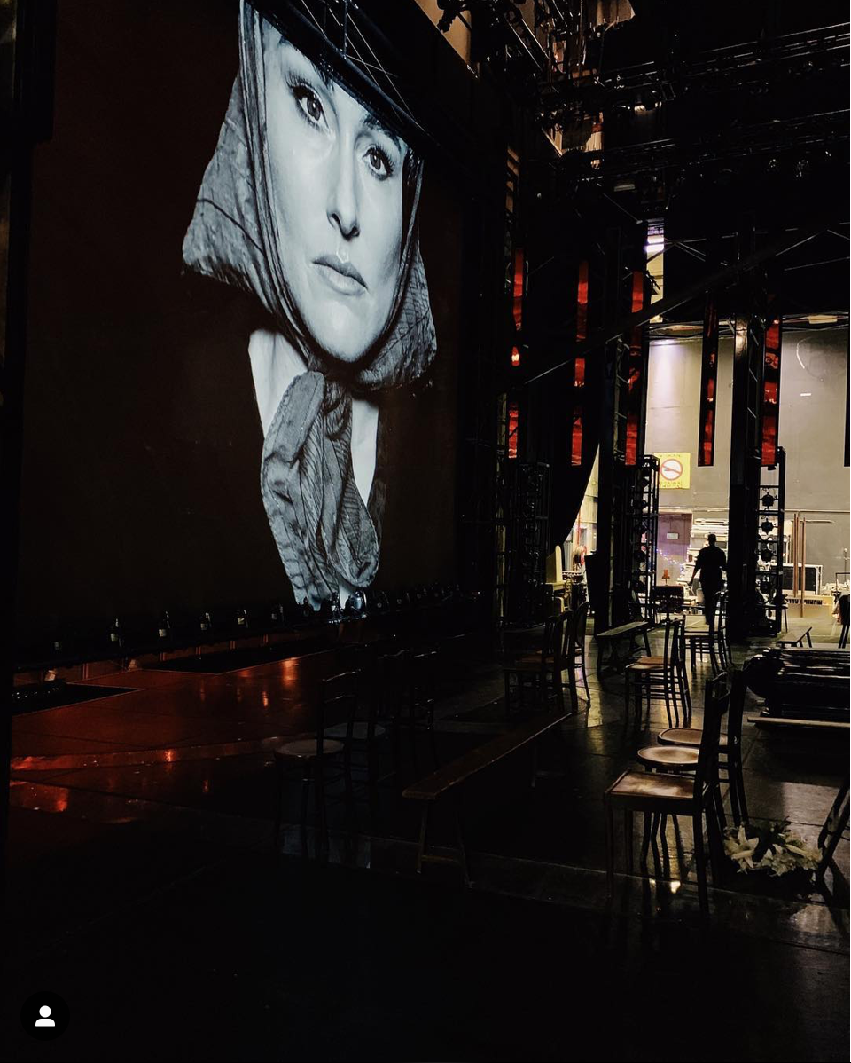 - Every time we have a cast change that effects the projection images our Lighting Department load the new images into the system and run the cues to ensure it's all working. Here's a quick check of @jemmarix_oz for today's performance! #EvitainAus (📸@joshuabroadbent)
