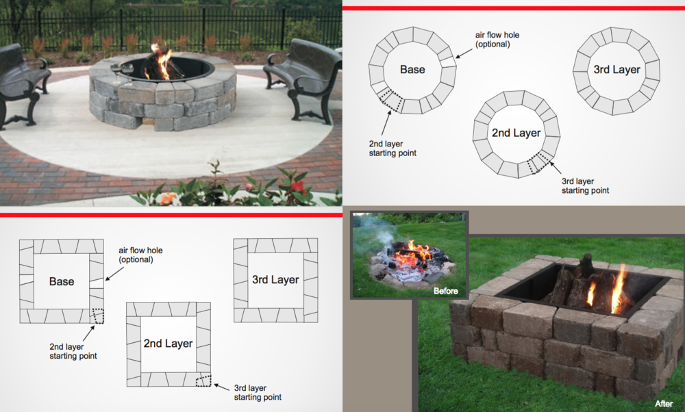 It is recommended to enjoy your newly built fire pit with friends and  family with either a cold one, glass of wine, and/or some s'mores! Enjoy! - How To Install The Madera Stone Fire Pit Kit — Exteriorscape Dealer