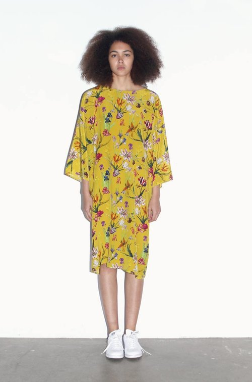 6027e6cb142 Yellow Tulip Garden Tunic Dress