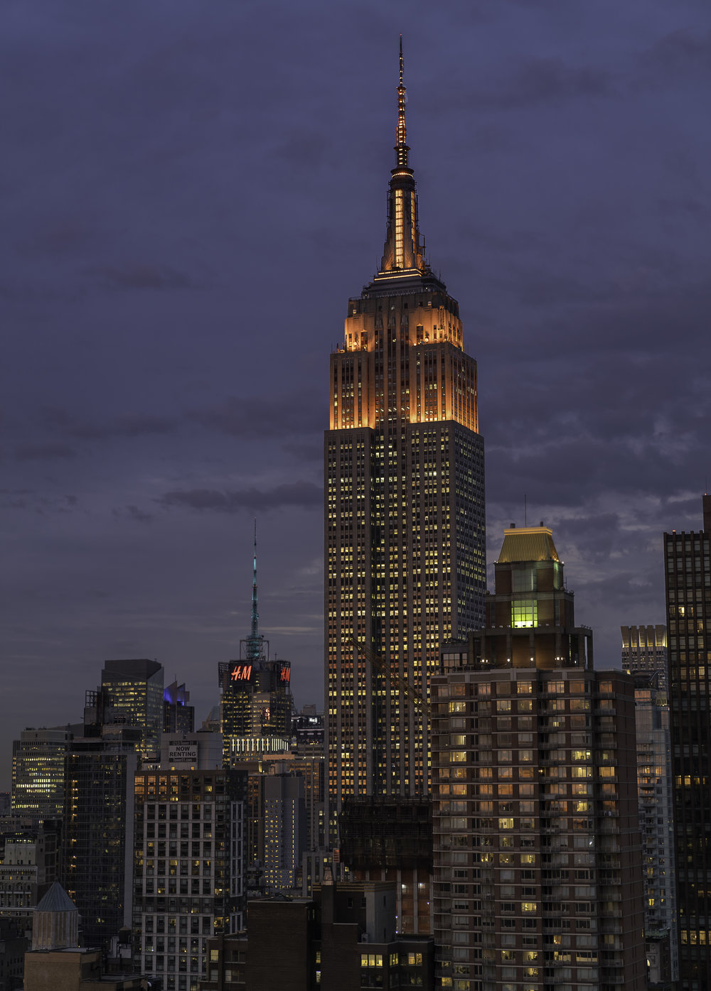 The Glorius Empire State Building at Dusk